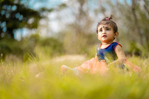 Image of Child, People in nature, Photograph, Toddler, People, Grass etc.