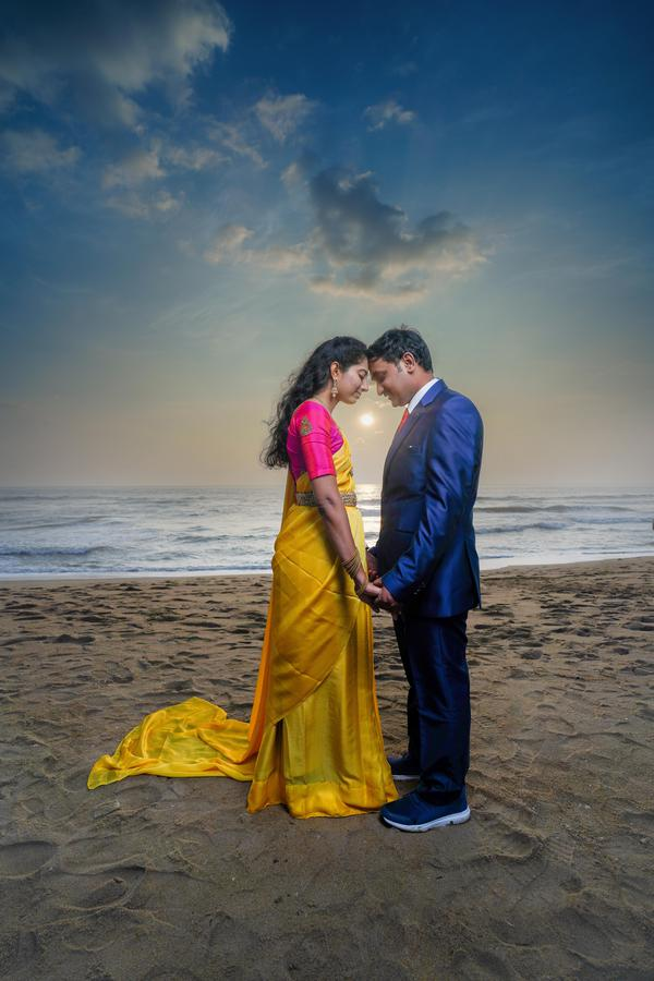 Image of Wedding dress, People on beach, Flash photography, Beach, Azure, People in nature etc.