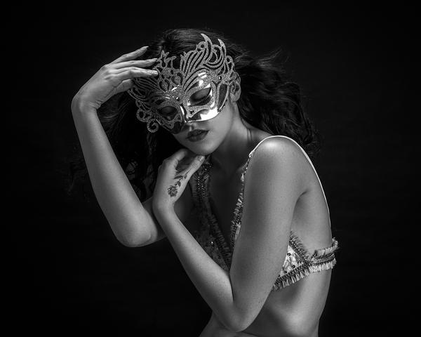 Image of Shoulder, Arm, Photography, Model, Monochrome photography, Headpiece etc.