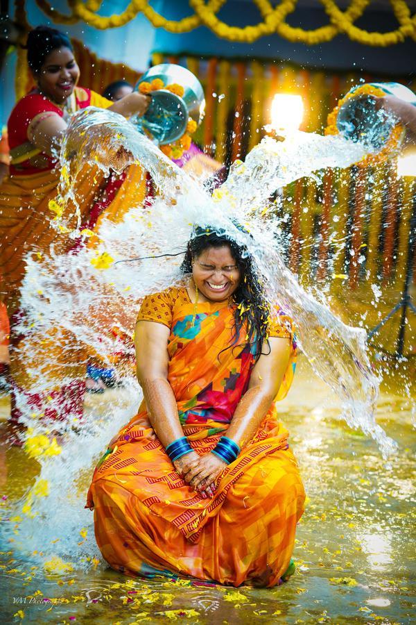 Image of People in nature, Yellow, Fun, Ritual, Tradition etc.