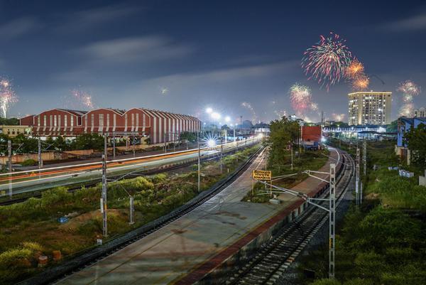 Image of Sky, Night, Metropolitan area, Transport, Urban area, Light etc.