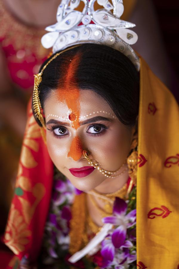 Image of Pink, Flash photography, Bride, Temple, Makeover, Purple etc.