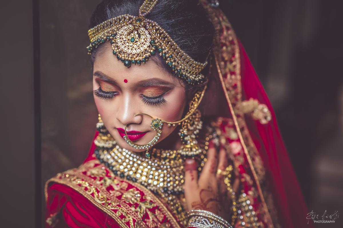 Image of Bride, Tradition, Lady, Beauty, Jewellery, Maroon etc.