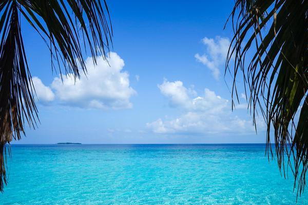 Image of Sky, Blue, Tropics, Nature, Sea, Ocean etc.