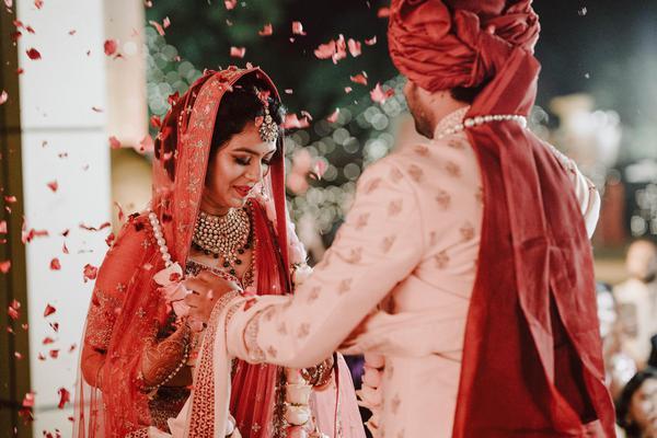 Image of Ceremony, Sari, Tradition, Bride, Red etc.
