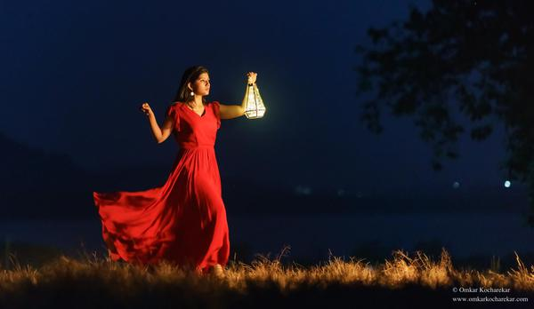 Image of Red, Sky, Beauty, Flash photography, Dress etc.