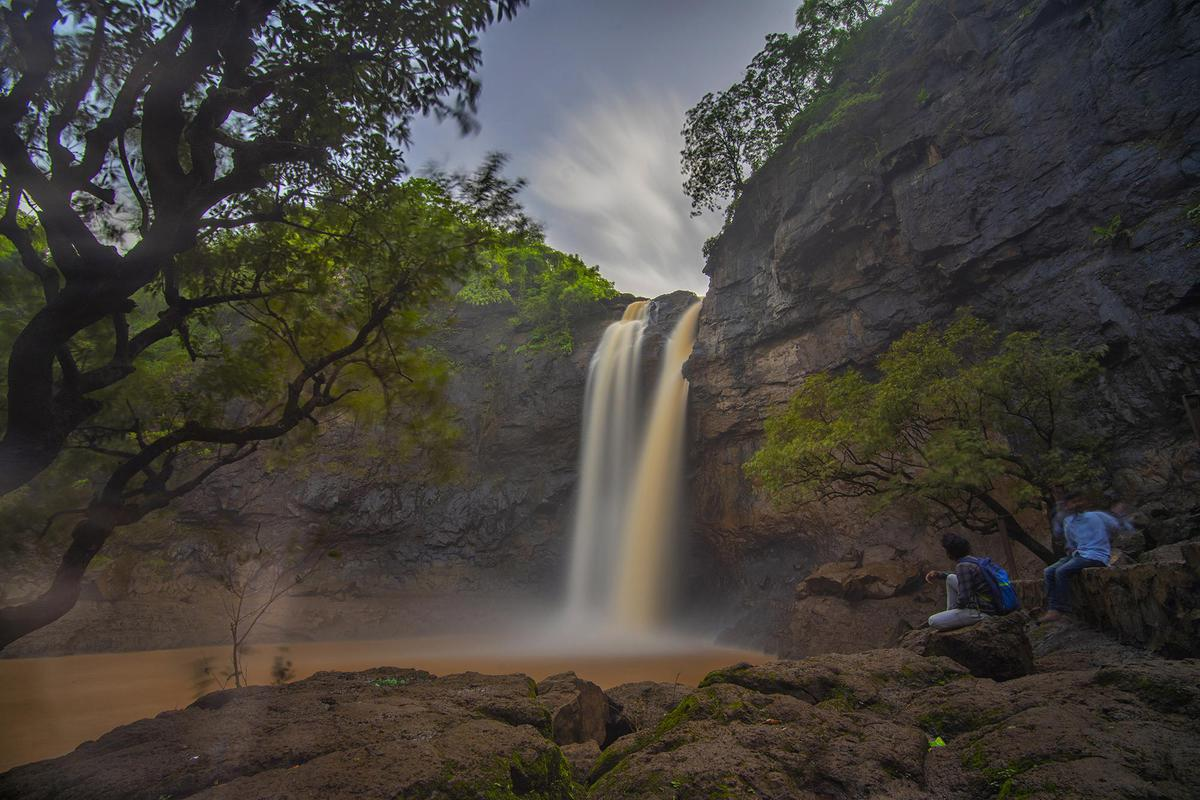 Image of Waterfall, Body of water, Nature, Water, Natural landscape, Water resources etc.