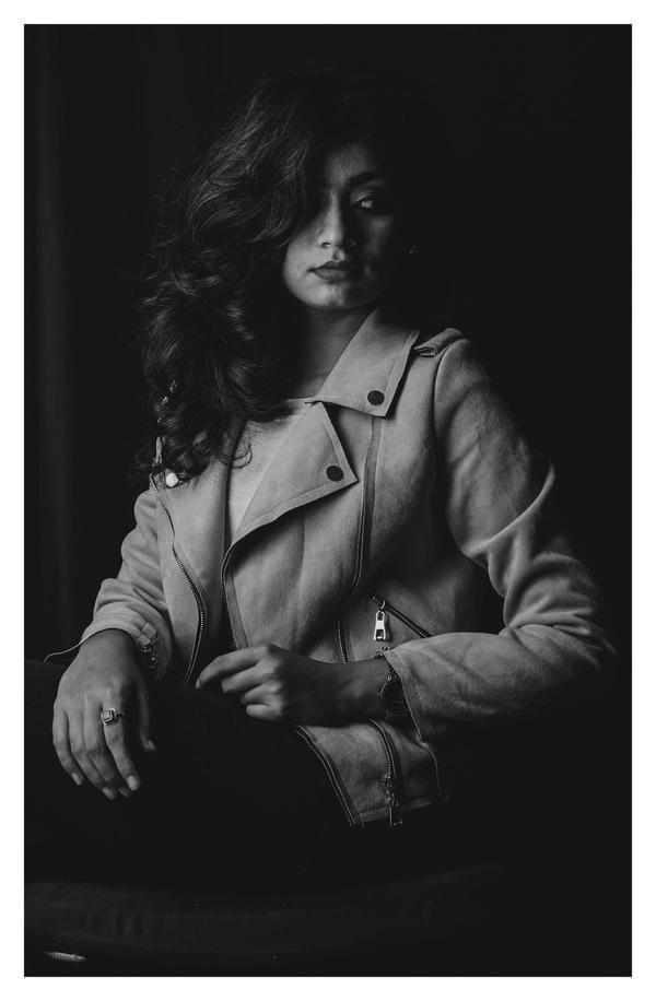 Image of Photograph, Black, White, Black-and-white, Beauty, Lady etc.