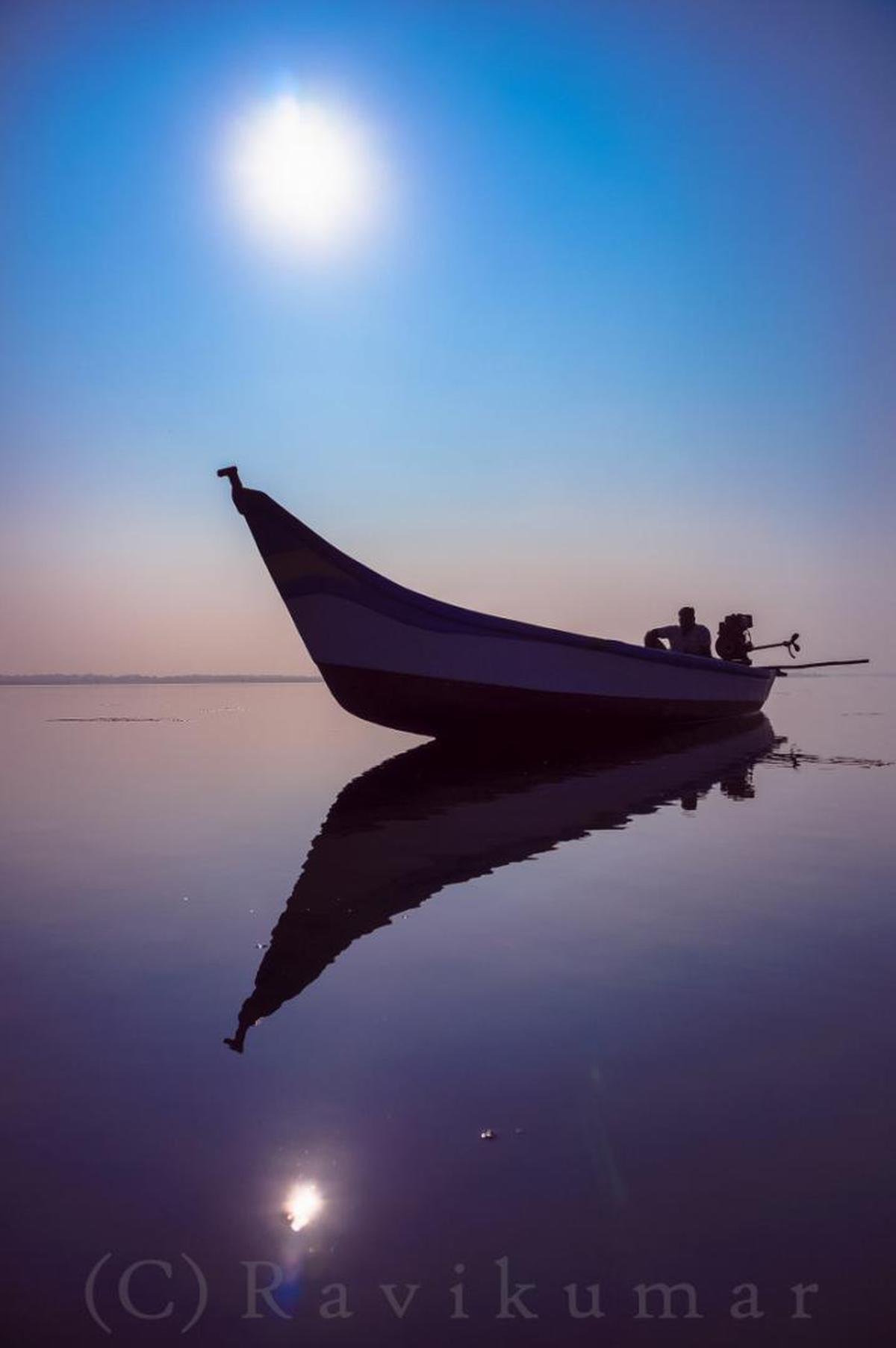 Image of Sky, Water, Reflection, Calm, Sea, Horizon etc.