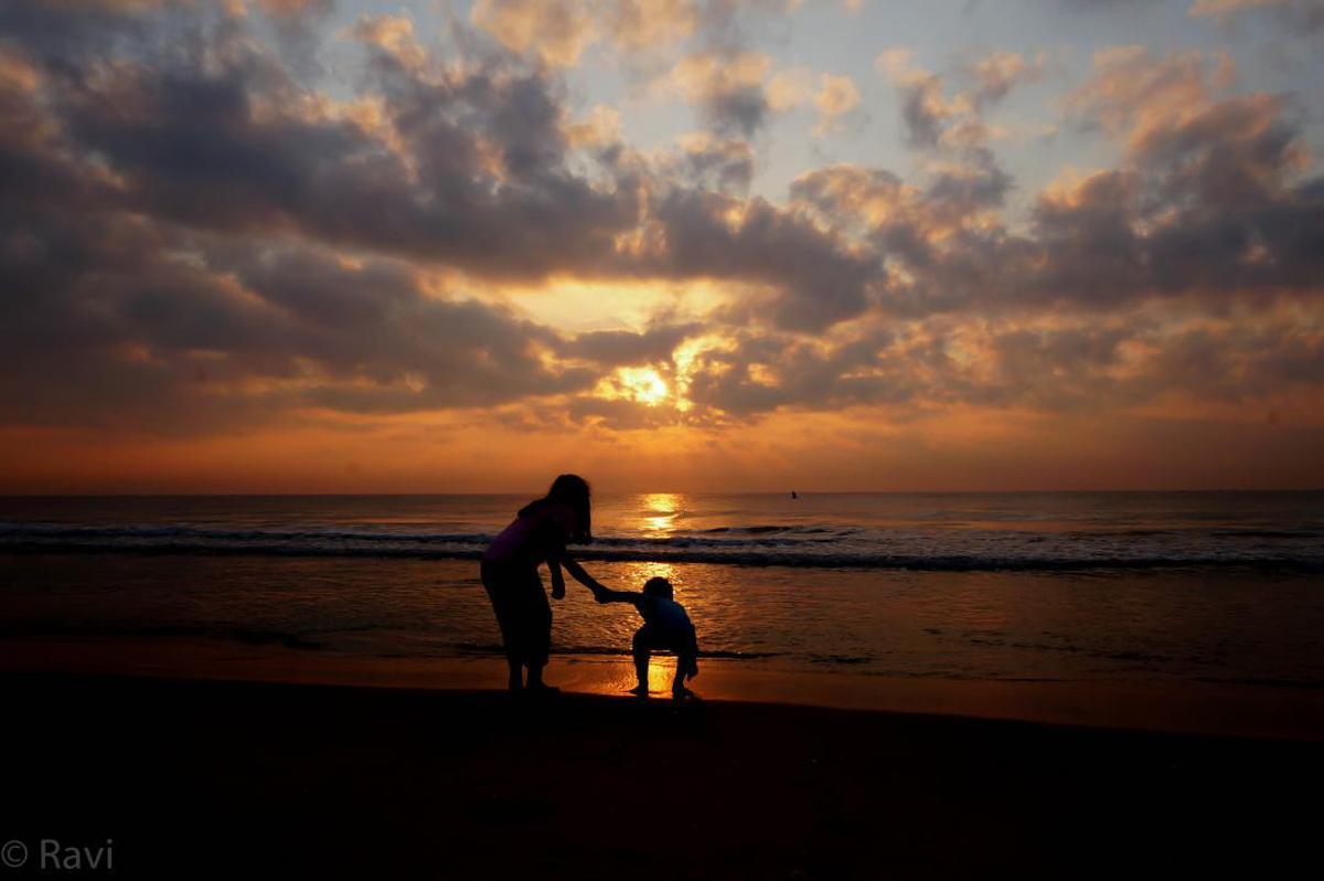 Image of Sky, Horizon, Sea, Sunset, Ocean, Beach etc.