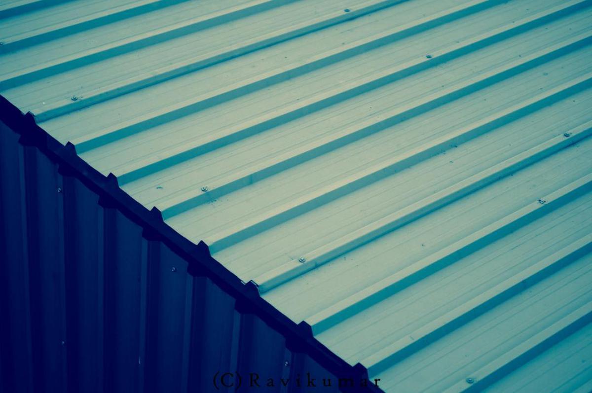 Image of Blue, Roof, Turquoise, Aqua, Line, Azure etc.