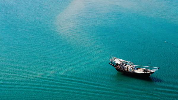 Image of Water transportation, Water, Aqua, Blue, Boat, Turquoise etc.