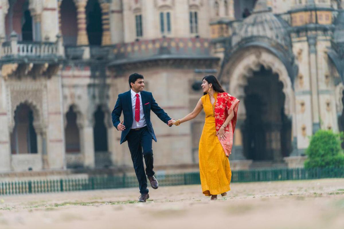 Image of Photograph, Yellow, Sari etc.