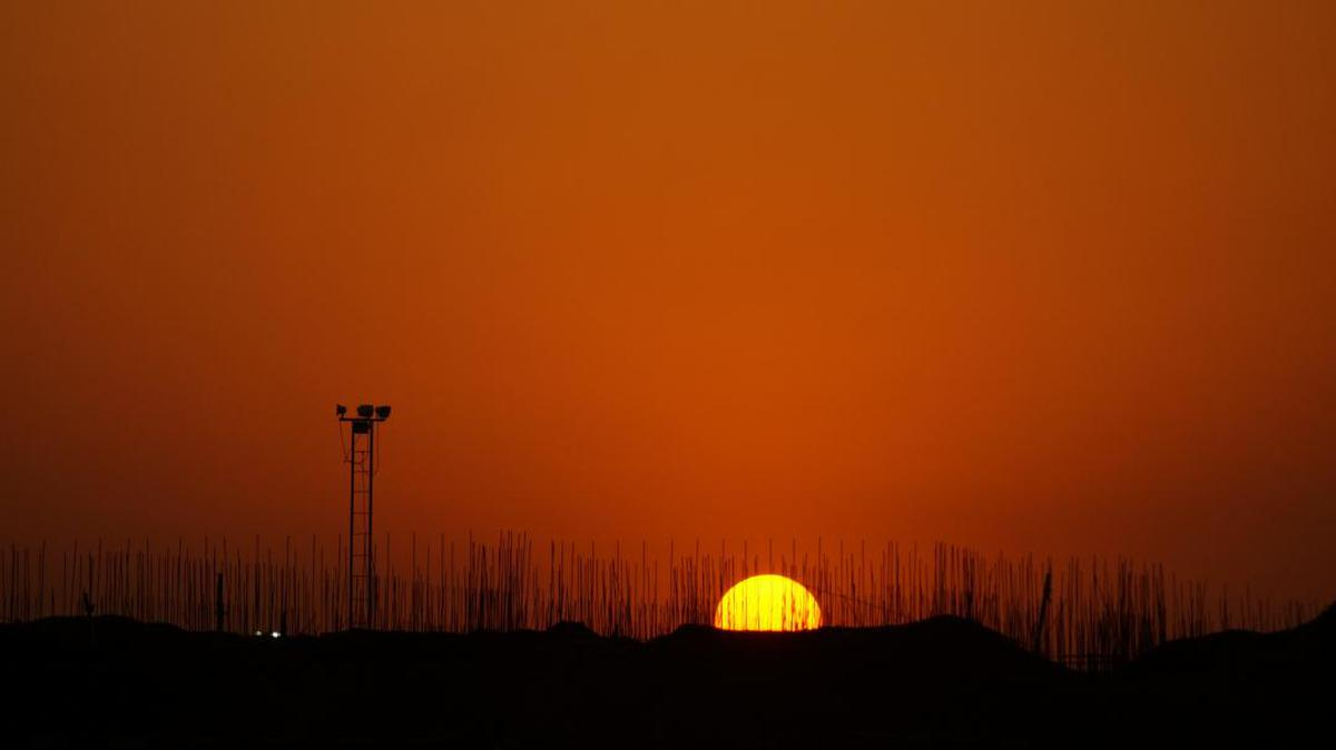 Image of Sky, Afterglow, Sunset, Sunrise, Horizon, Red sky at morning etc.
