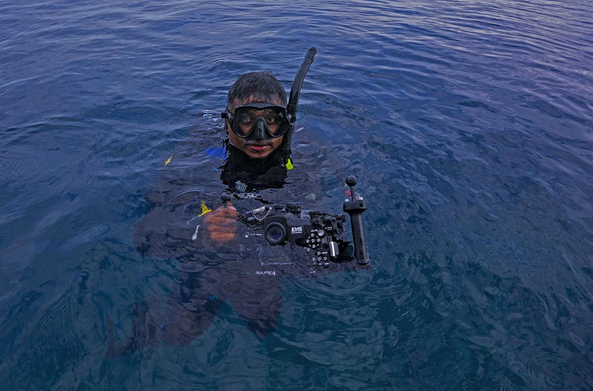 Image of Diving equipment, Divemaster, Recreation, Scuba diving etc.