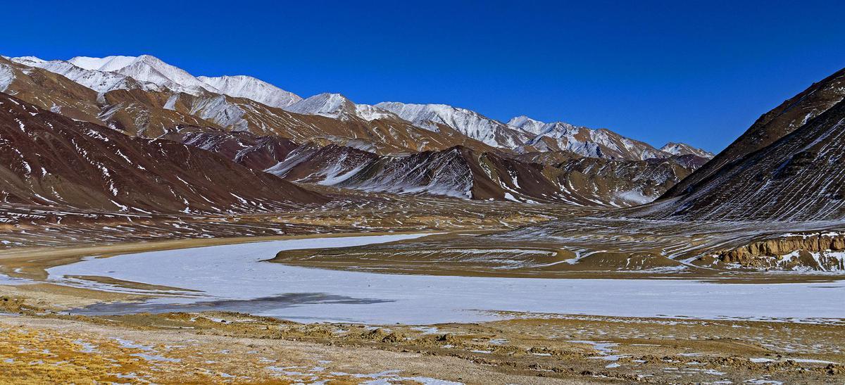 Image of Freezing, Body of water, Ice cap, Highland, Slope, Natural landscape etc.
