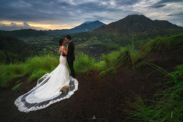 Image of People in nature, Bride, Photograph, Dress, Gown, Wedding dress etc.