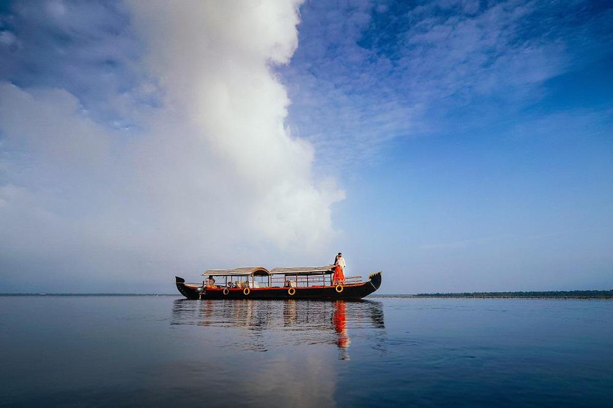 Image of Water transportation, Sky, Reflection, Water, Cloud, Calm etc.