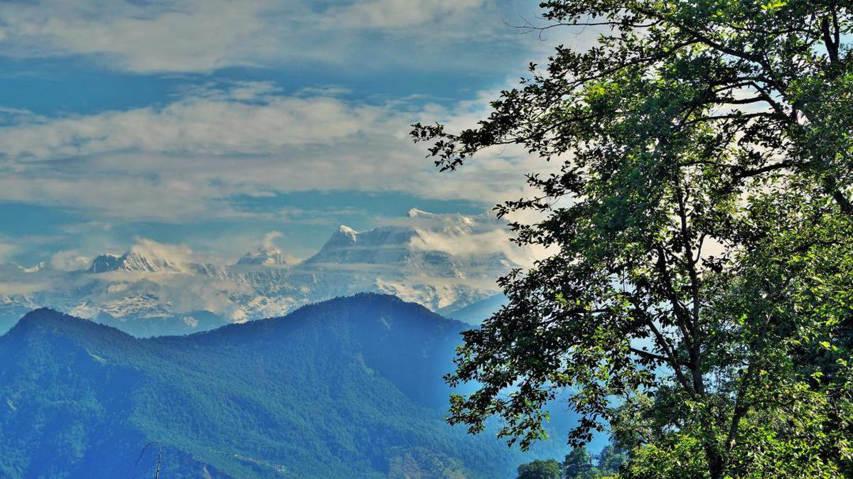 Image of Sky, Nature, Natural landscape, Mountainous landforms, Mountain, Tree etc.