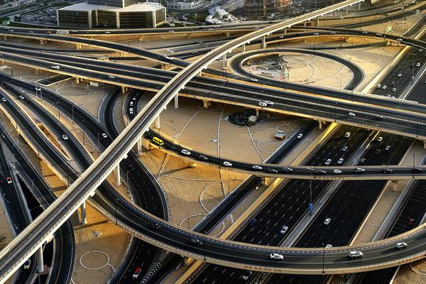 Image of Junction, Architecture, Urban area, Freeway, Intersection, Highway etc.
