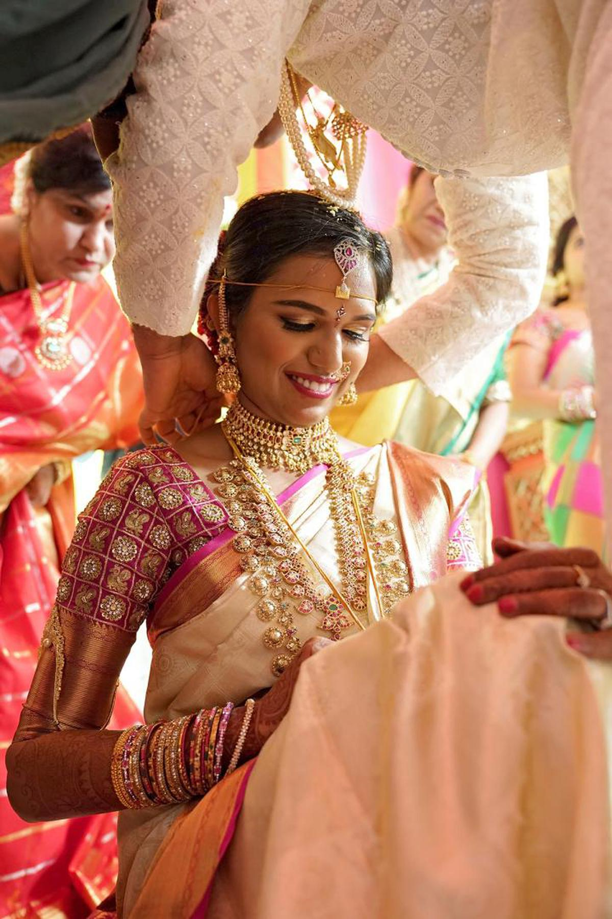 Image of White, Tradition, Yellow, Marriage, Pink, Event etc.