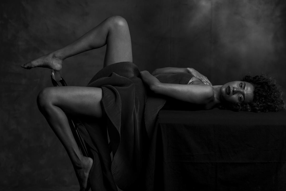 Image of Model, Monochrome photography, Art model, Photography, Monochrome, Leg etc.