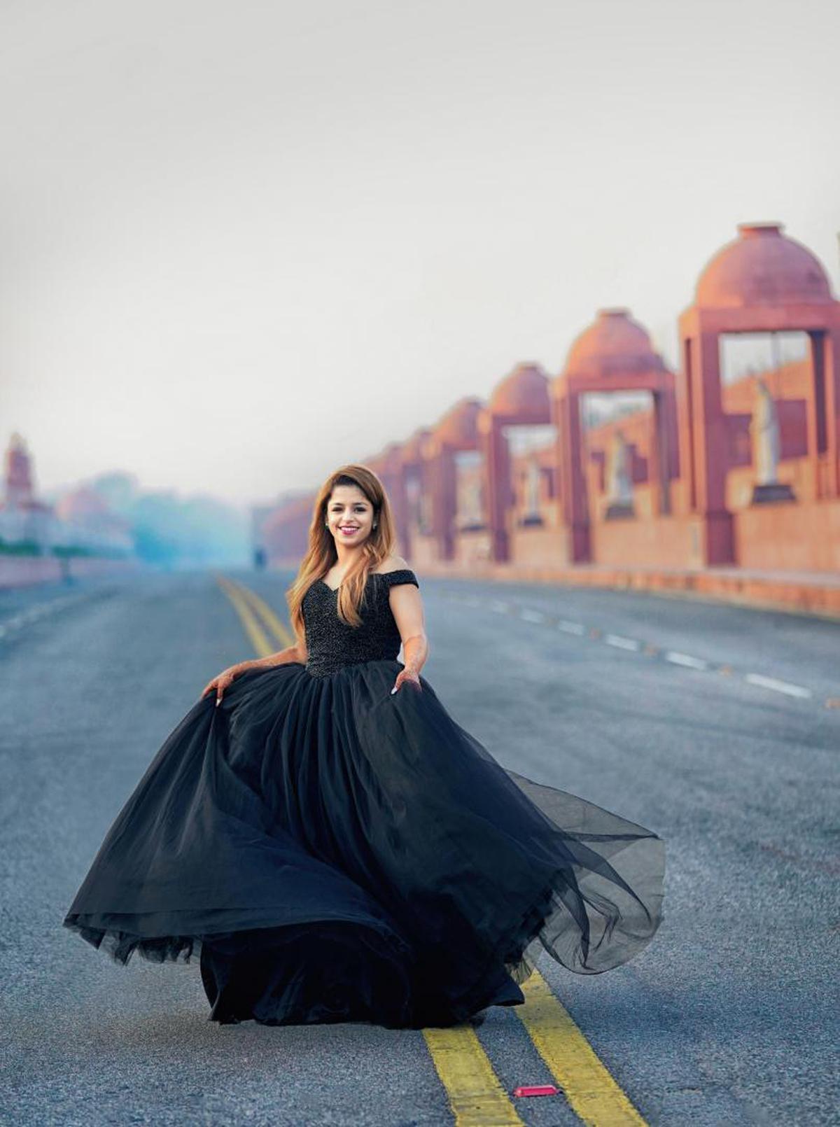Image of Photograph, Blue, Dress, Beauty, Clothing, Lady etc.