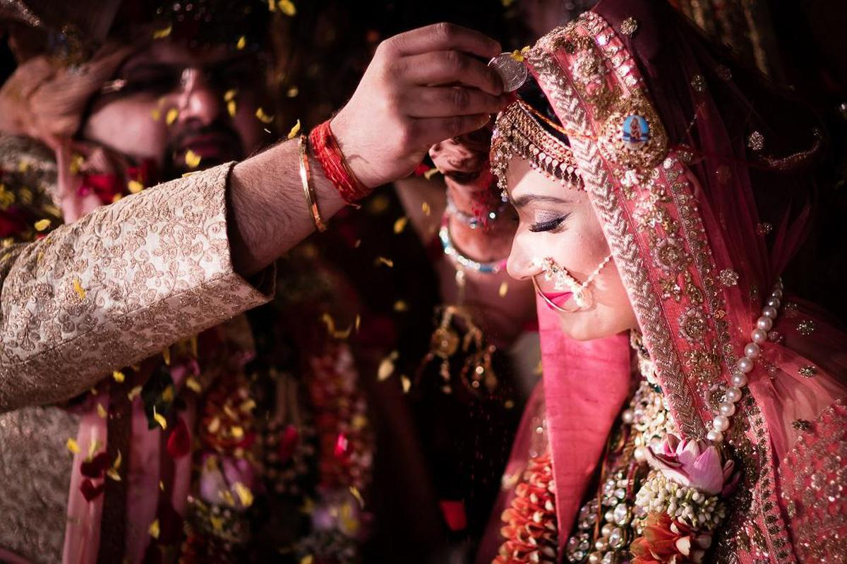 Image of Bride, Ceremony, Tradition, Pink, Marriage etc.
