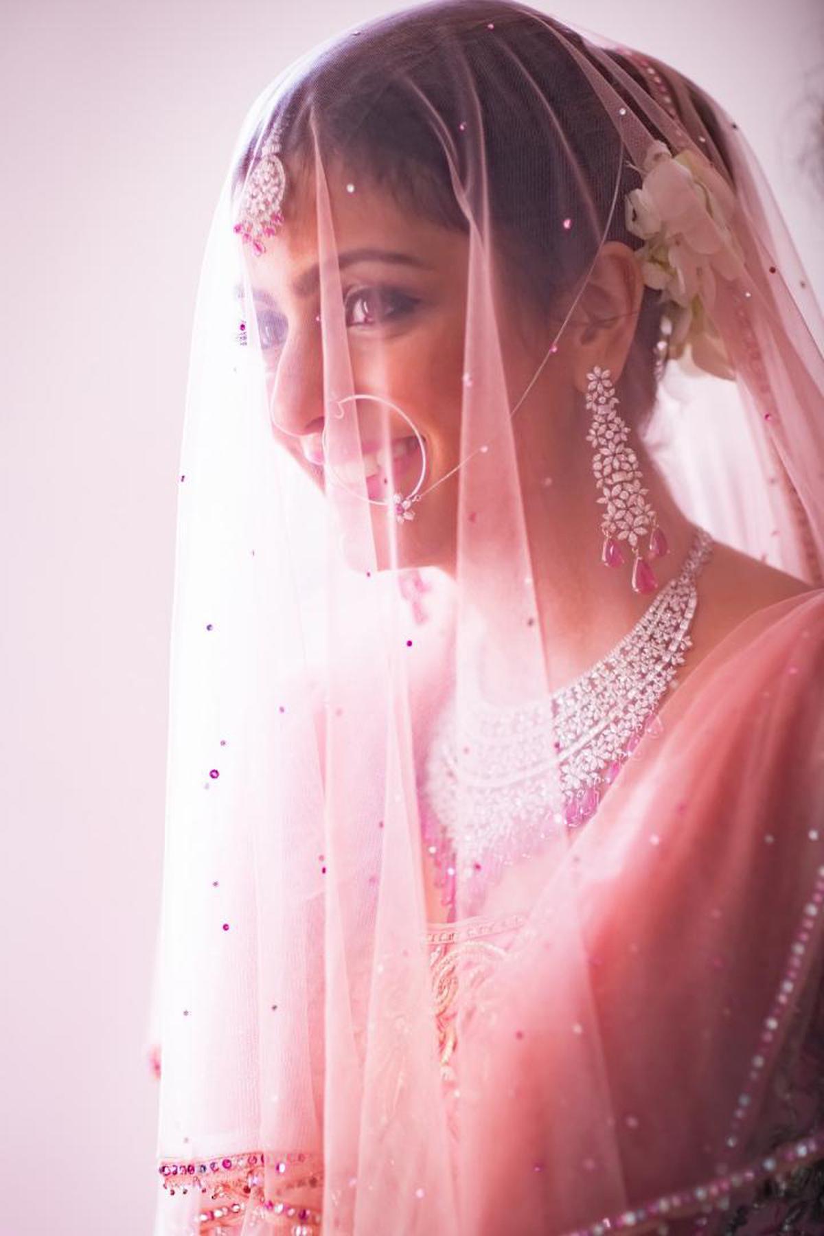 Image of Veil, Bridal veil, Pink, Bridal accessory, Beauty, Skin etc.