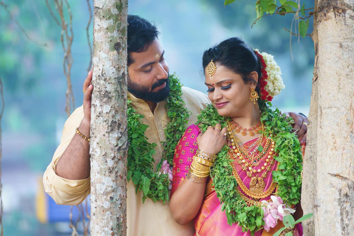 Image of Photograph, Marriage, Sari, Tradition etc.