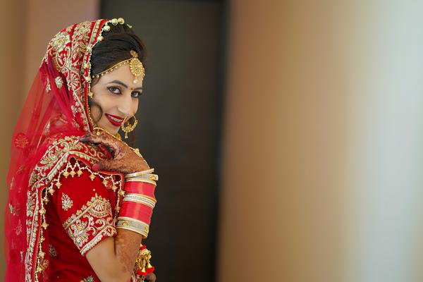 Image of Bride, Red, Sari, Yellow, Tradition, Beauty etc.