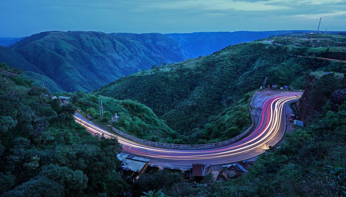 Image of Landmark, Road, Natural landscape, Mountain pass, Mountain, Highland etc.