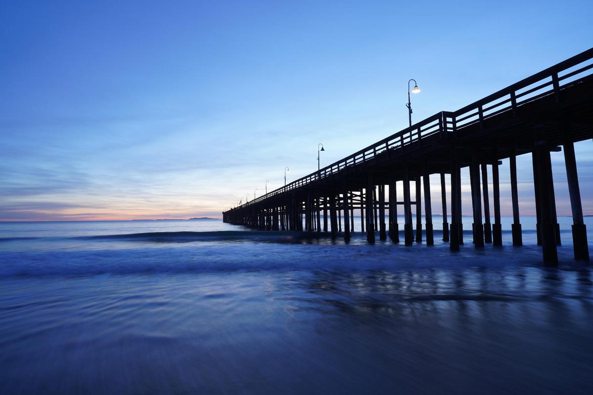 Image of Pier, Sky, Blue, Water, Sea, Ocean etc.