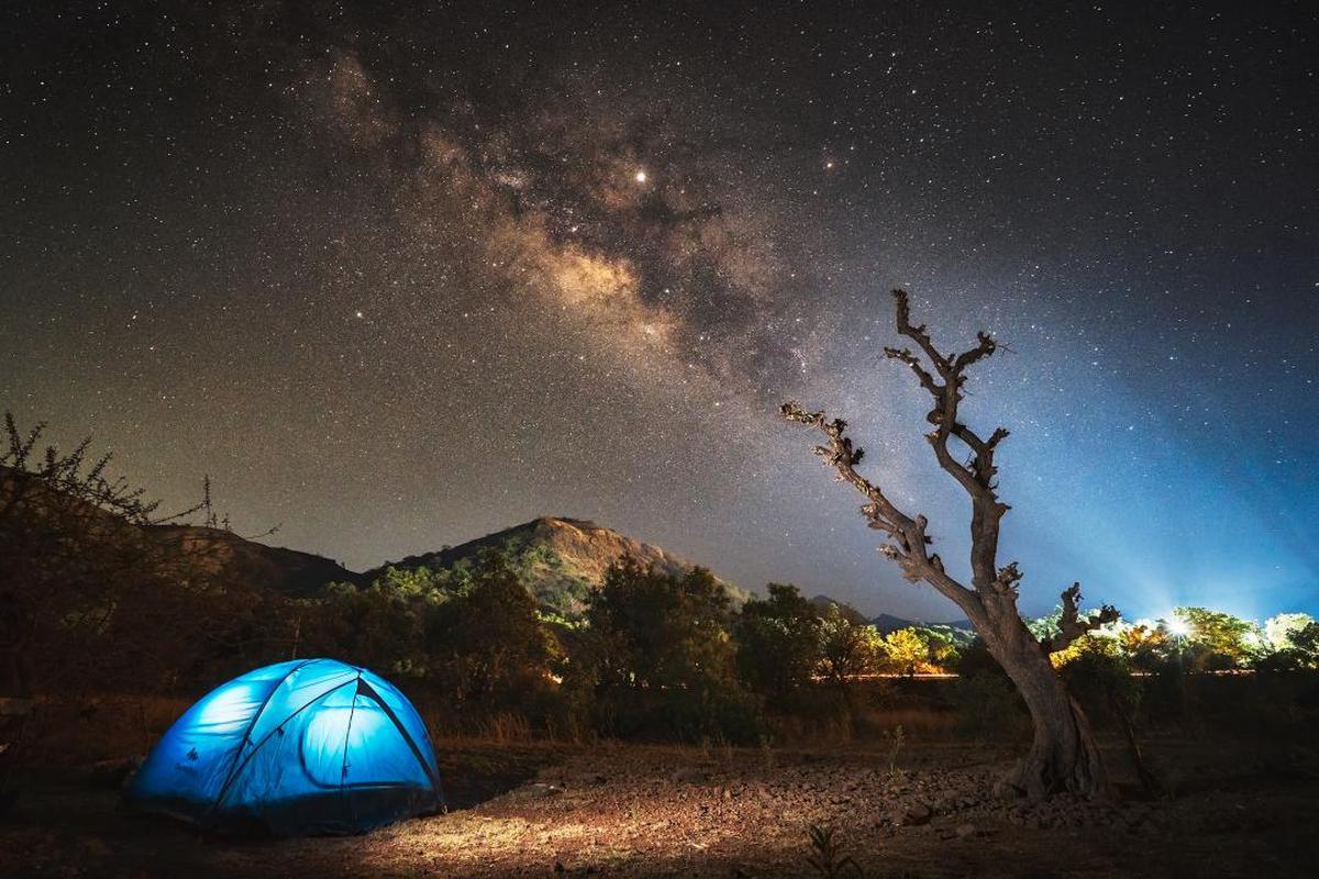 Image of Sky, Night, Light, Tent, Star, Atmosphere etc.