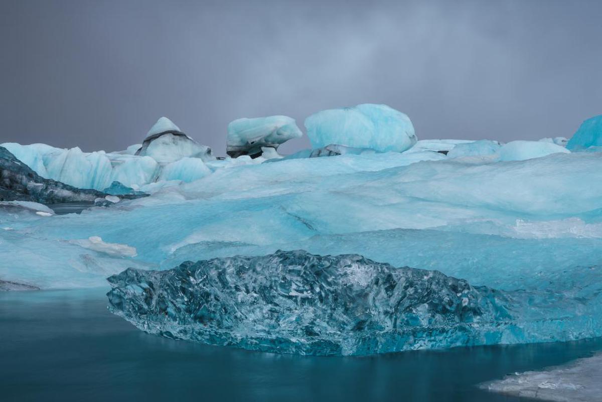 Image of Arctic, Ice cap, Ice, Polar ice cap, Iceberg, Glacial lake etc.