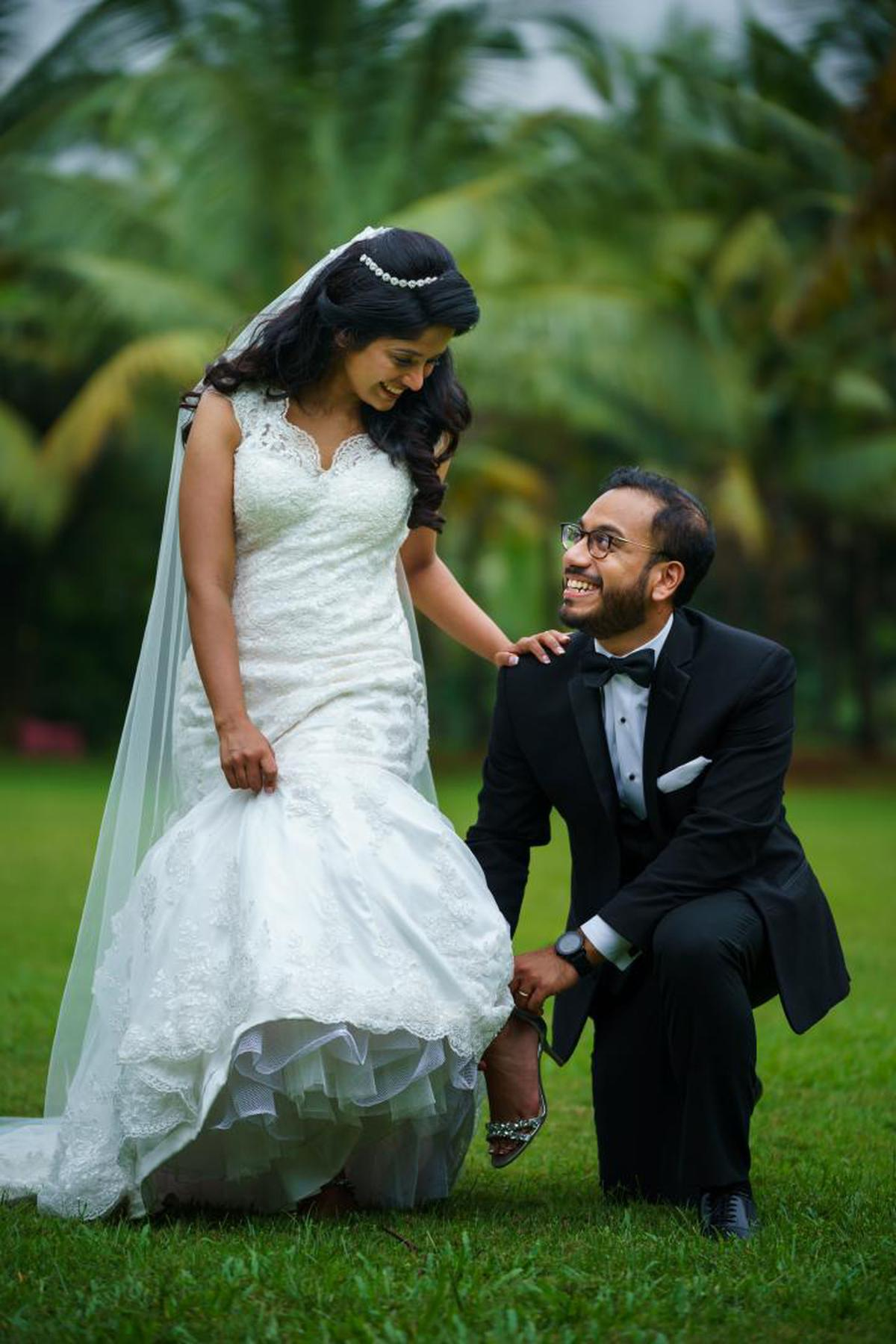 Image of Photograph, Bride, Wedding dress, Marriage, Dress, Gown etc.