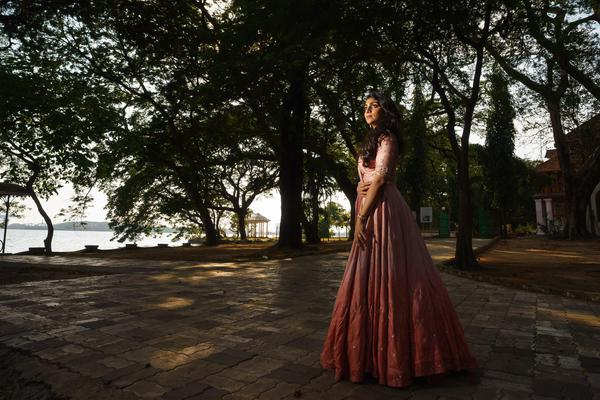 Image of Photograph, Dress, Lady, Tree, Beauty, Gown etc.