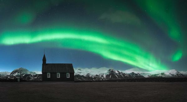 Image of Aurora, Sky, Nature, Green, Natural landscape, Light etc.