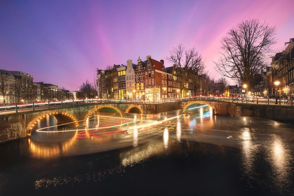 Image of Sky, Night, Water, Reflection, River, Waterway etc.