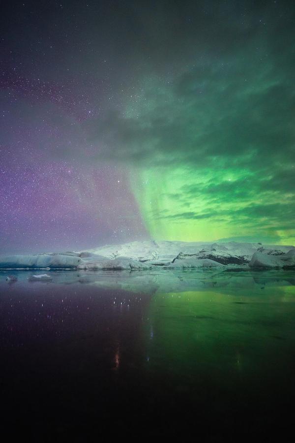 Image of Sky, Aurora, Nature, Green, Atmosphere, Horizon etc.