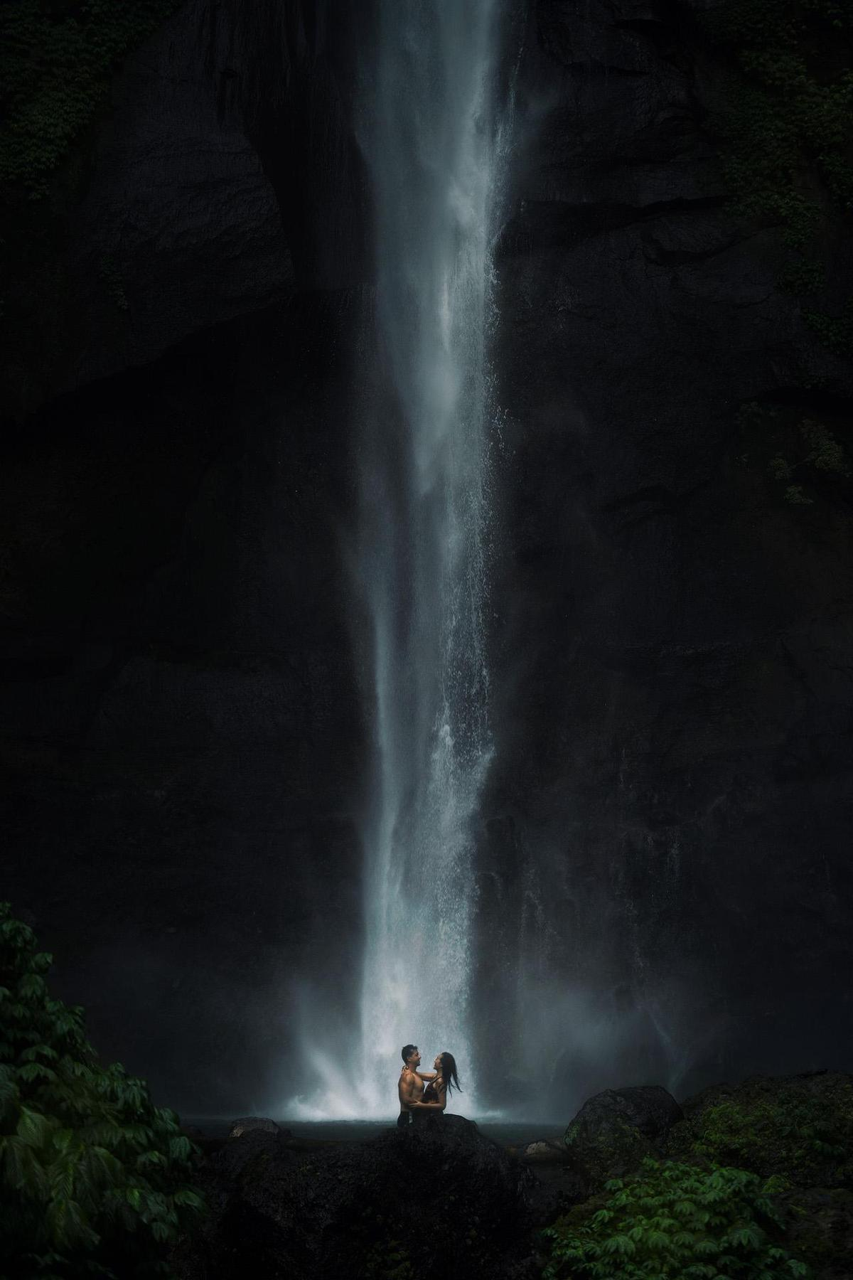 Image of Nature, Waterfall, Water, Natural landscape, Water resources, Atmospheric phenomenon etc.
