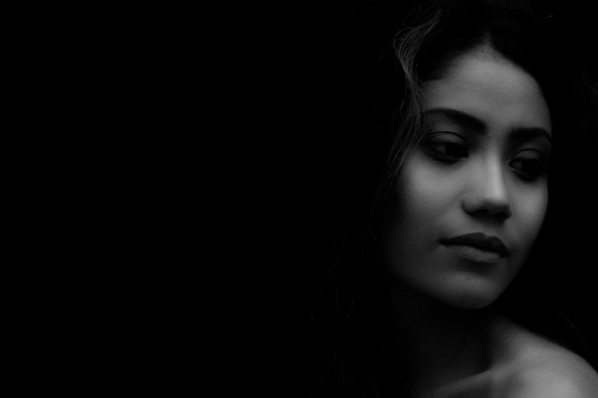 Image of Face, Black, Photograph, Lip, Black-and-white, Beauty etc.
