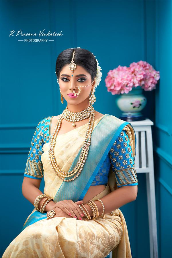 Image of Sari, Clothing, Turquoise, Peach, Yellow, Lady etc.