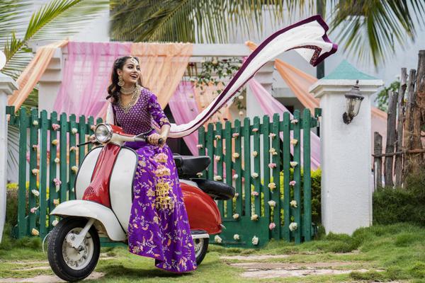 Image of Pink, Purple, Beauty, Lady, Vehicle, Dress etc.