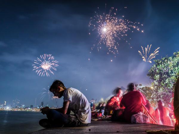 Image of Fireworks, Sky, Sparkler, Light, Night, Event etc.