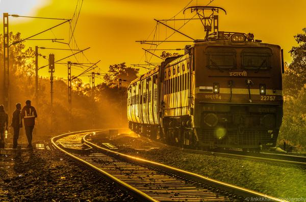 Image of Track, Transport, Mode of transport, Railway, Train, Vehicle etc.