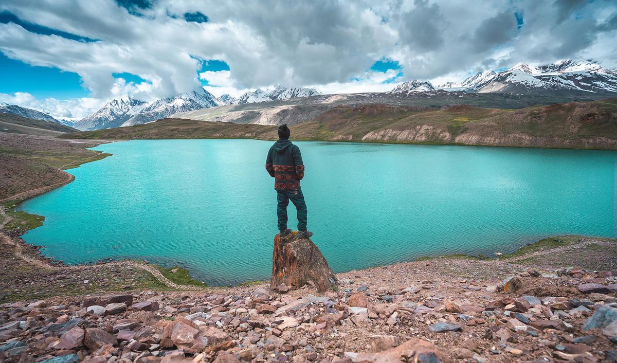 Image of Body of water, Lake, Mountain, Glacial lake, Wilderness, Mountainous landforms etc.