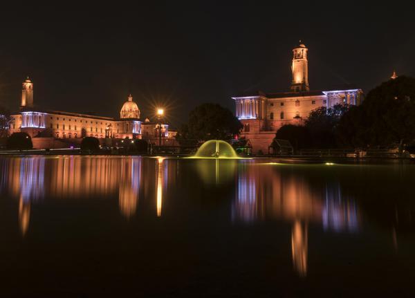 Image of Night, Water, Reflection, Sky, Landmark, Light etc.