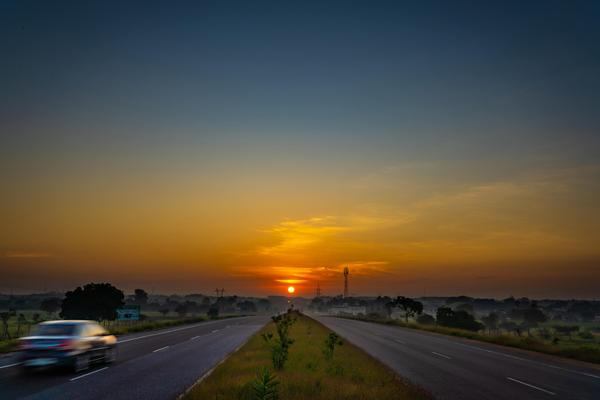 Image of Sky, Horizon, Road, Sunrise, Sunset, Atmospheric phenomenon etc.