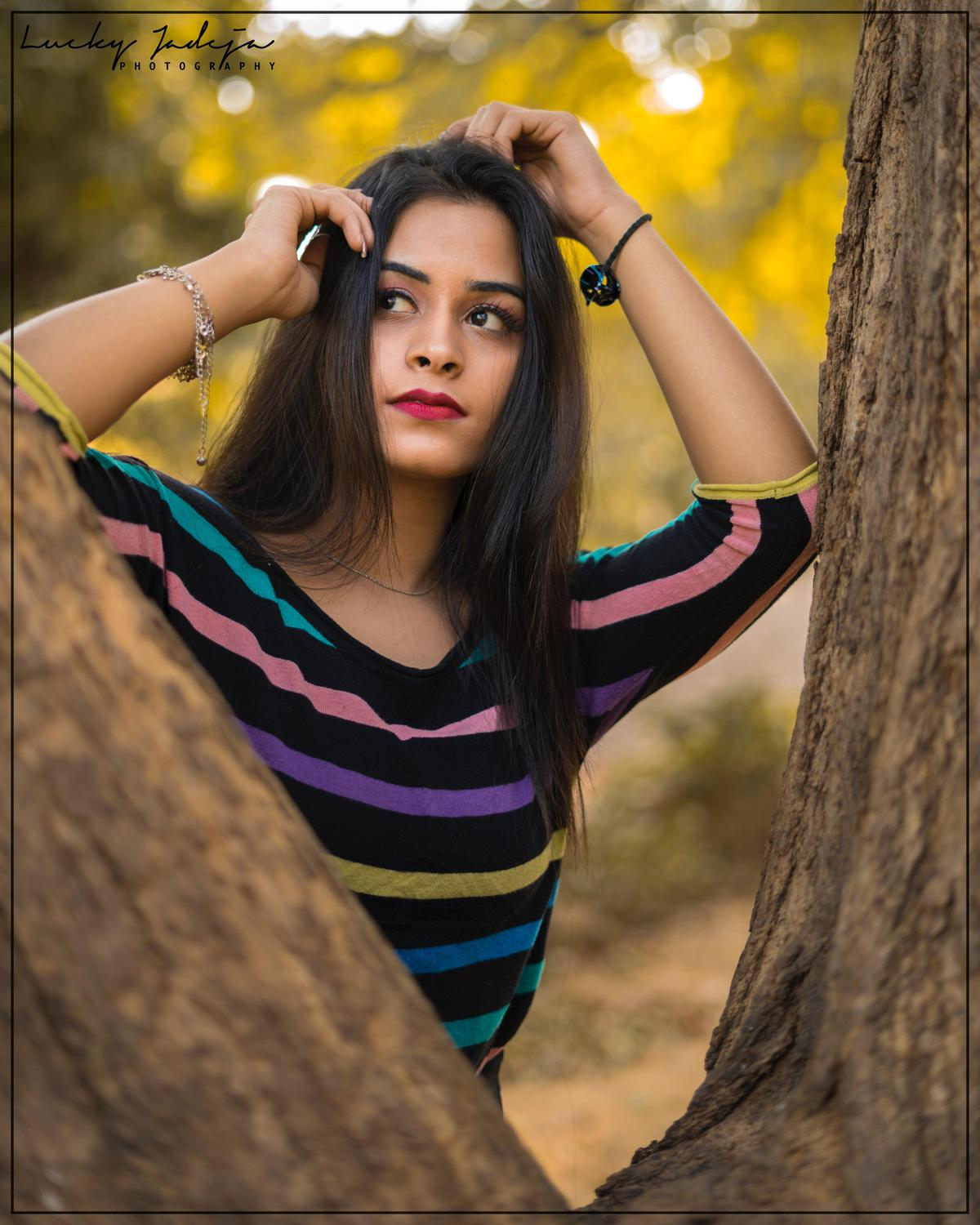 Image of People in nature, Hair, Face, Tree, Beauty, Green etc.